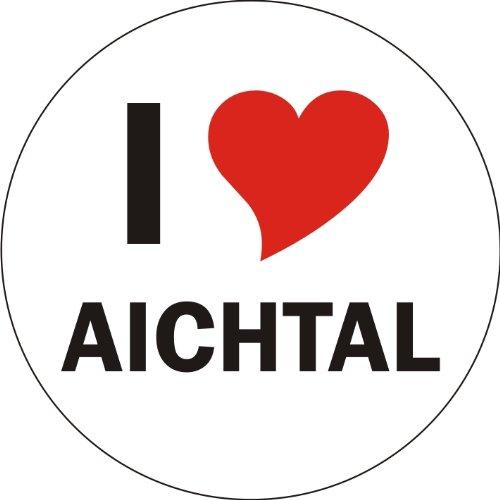 I Love AICHTAL Laptopaufkleber Laptopskin 210x210 mm rund