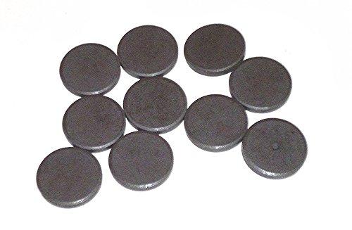 Lot de 10 aimants ronds – DM 20 mm x 3 mm pour bricoler, werkeln et décorer, Accessoires de bricolage magnétique, magnétique, aimants en ferrite