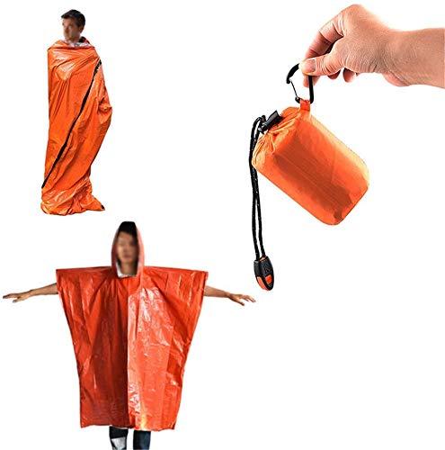 Couverture d'urgence polyvalente, couvertures d'urgence et imperméable, couverture d'espace feuille Mylar thermique pour randonnée Marathons camping Kits premiers secours Bug Out Bag, Équipement surv
