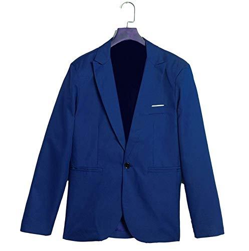 XFXZXZ Bruiloftspak, 2 stuks, blazer en broek, voor mannen, casual, dun, plus maat