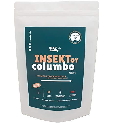 BeG Buddy 'INSEKTor Columbo' Insekten Hundefutter trocken getreidefrei - 30% Insektenprotein - Trockenfutter Hund ohne Getreide aus Insekten - hypoallergen & nachhaltig - 750 g