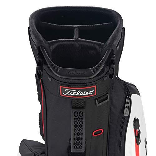 Titleist Players 4 Golf Bag Black / White / Red