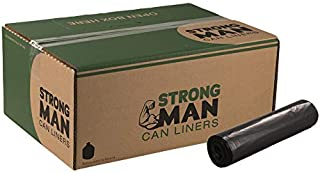 SM385823 Strongman 38x58 2.3EQ mil Black 60 gallons LLD Repro Liner Perforated Rolls 10/10 cs