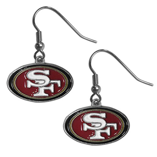 NFL Siskiyou Sports Womens San Francisco 49ers Dangle Earrings One Size Team Color