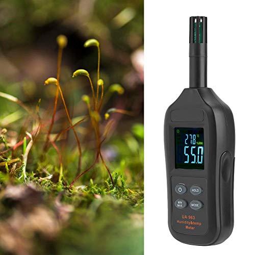 Pangding 𝐂𝐡𝐫𝐢𝐬𝐭𝐦𝐚𝐬 𝐂𝐚𝐫𝐧𝐢𝒗𝐚𝐥 UA963 Medidor Digital de Temperatura y Humedad Termómetro Higrómetro Higrotermógrafo con Punto de rocío y Temperatura de Bulbo húmedo