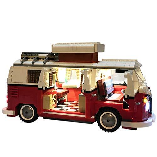 15000P Licht Set für Lego Creator Volkswagen T1 Campingbus 10220, USB Stecker passen zum Lego 10220