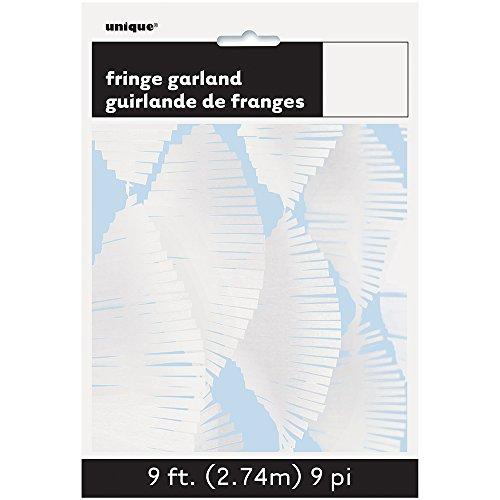 9 ft wit zijdepapier franjes slinger