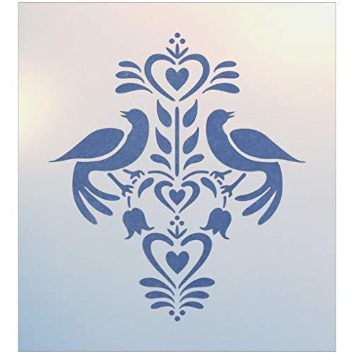 Folk Art Birds 2 Stencil - The Artful Stencil