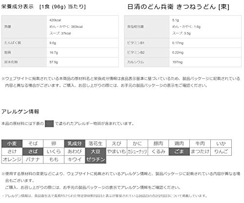 日清食品どん兵衛きつねうどん(東)96gx12個