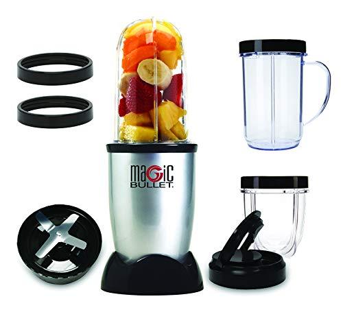 NutriBullet MBR1128 - Batidora de Vaso, Compacta de Alta Velocidad, para Smoothies de Frutas y Verduras, Plástico Libre BPA, 200 W, con Recetario en Español, Apto Lavavajillas, Gris