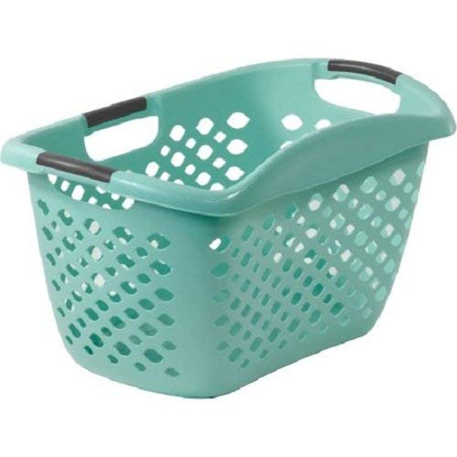 Home Logic 1.8-Bu Large-Capacity Hip Grip Laundry Basket, Teal Splash