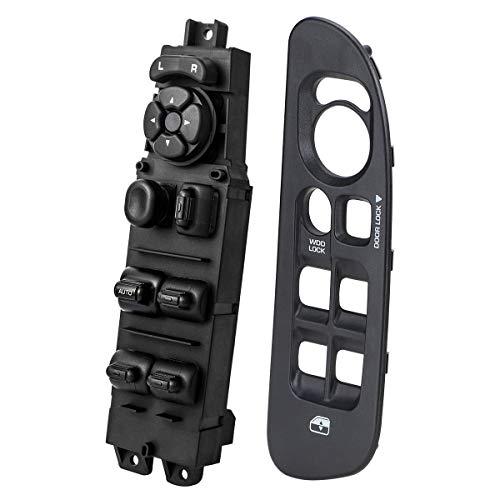Master Power Window Switch & Black Bezel for 2002-2010 Dodge Ram 1500 2500 3500, Replace OE 68171680AA, 56049805AB, 641-00653L