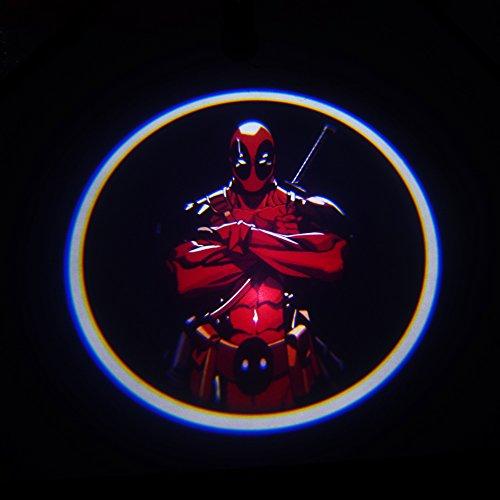 Deadpool Head Wireless Car Door LED Welcome Light