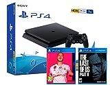 PS4 Slim 1Tb Negra Playstation 4 Consola + FIFA 20 + The Last Of Us 2