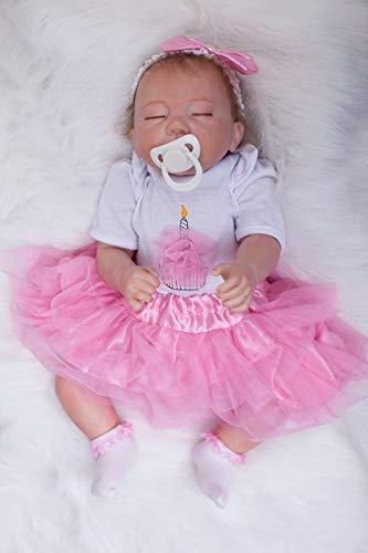 TERABITHIA Real Life Hübsch wie eine Prinzessin Schlafen Silikon Vinyl Reborn Babypuppen sehen echt aus