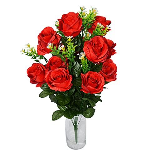 Rabbihom Big 65x30cm Artificial Daisy Rose Flores Falsas Flor Falsa Flores Artificiales Flor de plástico Planta Artificial Adecuado para la decoración del jardín del Restaurante