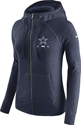 NFL Dallas Cowboys Women's Nike Gym Vintage Full-Zip, Navy, X-Small