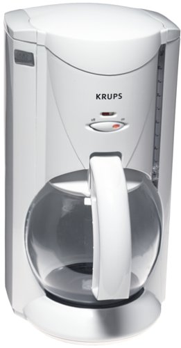 Best Deals! Factory-Reconditioned Krups R466-71 Crystal Aroma 10-Cup Coffee Maker, White