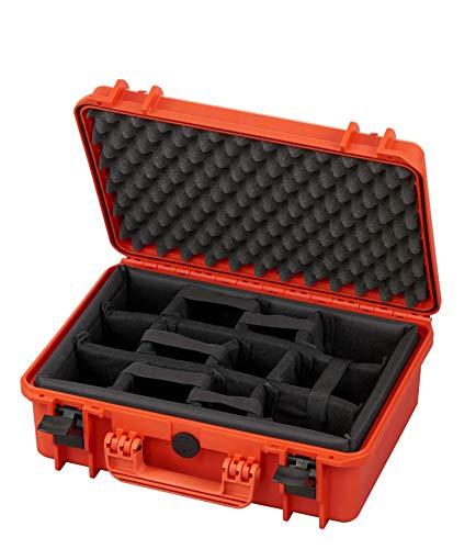 MAX Cases - Valigia Fotografica con Divisorie Mobili Imbottite per Trasportare e Proteggere Apparecchiature e Materiali Sensibili, MAX430CAM Arancione, Dimensioni Interne 426 x 290 x 159 mm