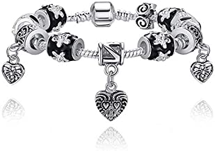 925 Silver bracelet glass Beads Pandora Style Charm Bracelets for women
