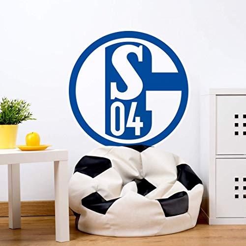 selbstklebendes Wandtattoo Fußball Aufkleber Wandposter FC Schalke 04 Logo auch auf Tapete selbstklebend 40 cm