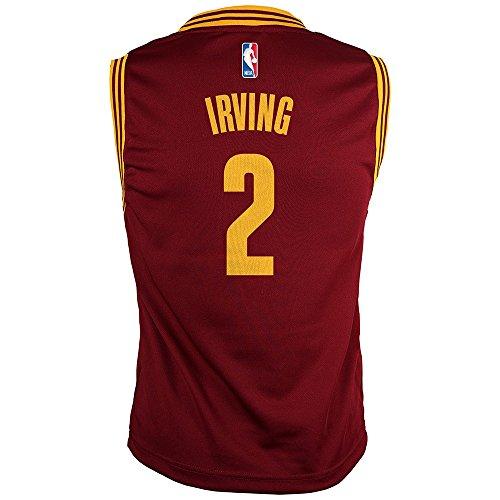 Outerstuff NBA Boys' Replica Player Jersey-Road, Burgundy/Yellow, Youth Medium(10-12)