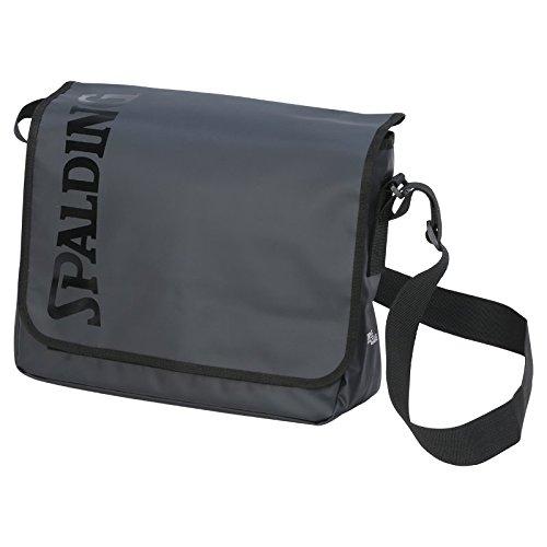 Spalding Premium Messenger, Bolso bandolera Unisex Adulto, Negro (Negro), 15x24x45 cm (W x H x L)