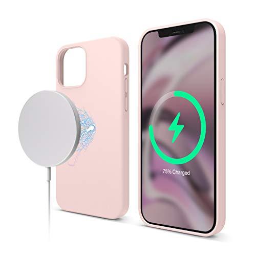 elago Magnetic Silikon-Hülle Hülle Kompatibel mit iPhone 12 & Kompatibel mit iPhone 12 Pro 6,1 Zoll - Eingebaute Magnete, Kompatibel mit MagSafe Zubehör (Lovely Rosa)