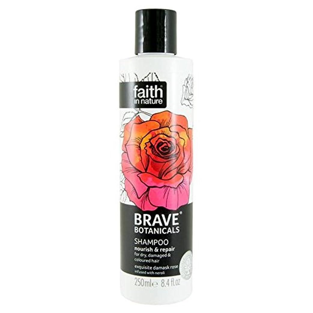 生態学堤防あいまいなBrave Botanicals Rose & Neroli Nourish & Repair Shampoo 250ml (Pack of 6) - (Faith In Nature) 勇敢な植物は、ローズ&ネロリは養う&リペアシャンプー250Ml (x6) [並行輸入品]