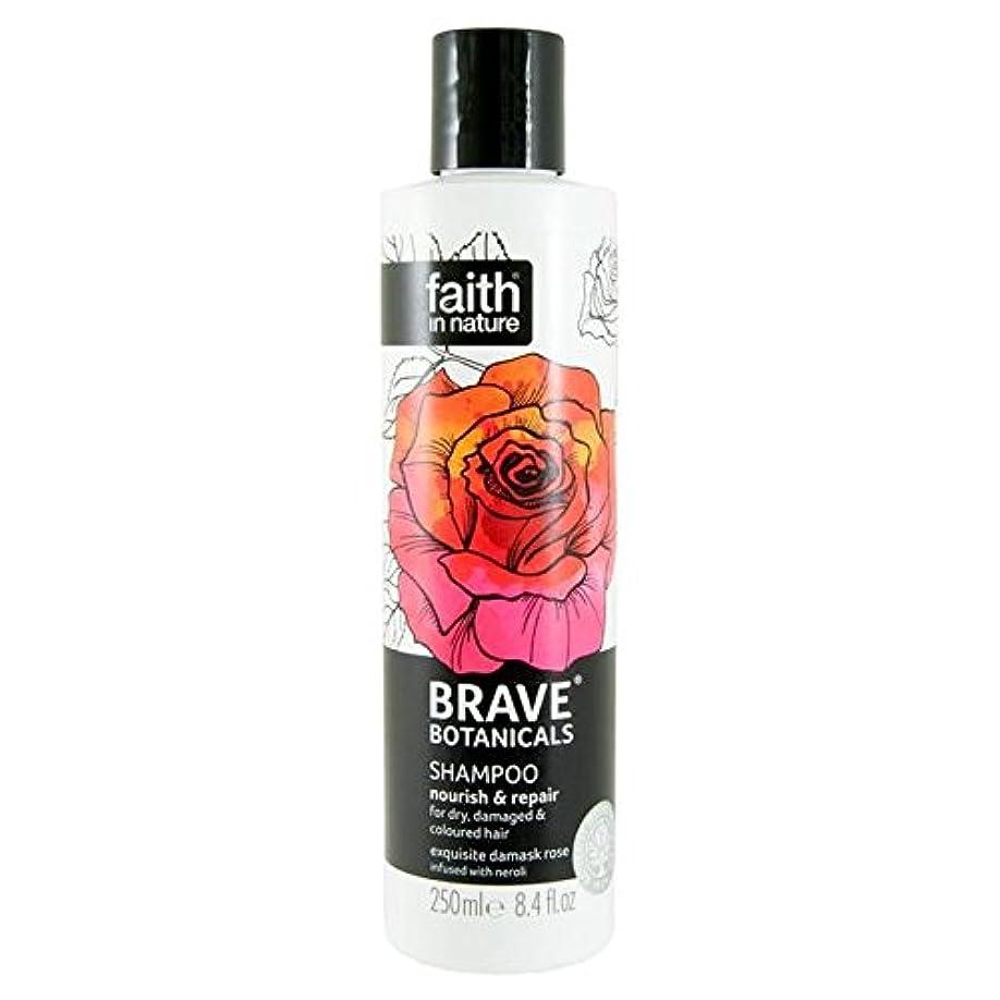 投資大量敷居Brave Botanicals Rose & Neroli Nourish & Repair Shampoo 250ml - (Faith In Nature) 勇敢な植物は、ローズ&ネロリは養う&リペアシャンプー250Ml [並行輸入品]