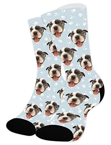 Zhovee Calcetines Personalizados Cara, Calcetines divertidos con foto, Con Fotos Caras Nombres ,Calcetines personalizados, Pon tu Foto en Calcetines para Hombre,Mujer