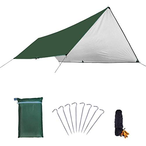 DGJEL - Toldo ultraligero para exteriores, camping, supervivencia, refugio de sol, revestimiento plateado, pérgola, impermeable, tienda de playa, G, China, 3 x 4 m