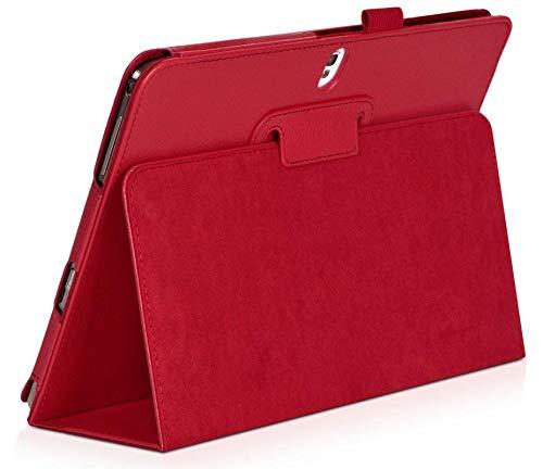 Coque Für Samsung Galaxy Tab Pro 10.1 SM-T520 T525 T521 Hülle Tablet-Hülle Fundas Lederhüllen Capa P600 P605 Shell-rot