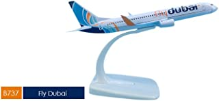 16cm Boeing B737-800 Fly Dubai airlines airplane model toys aircraft diecast plastic give away gifts for kid's