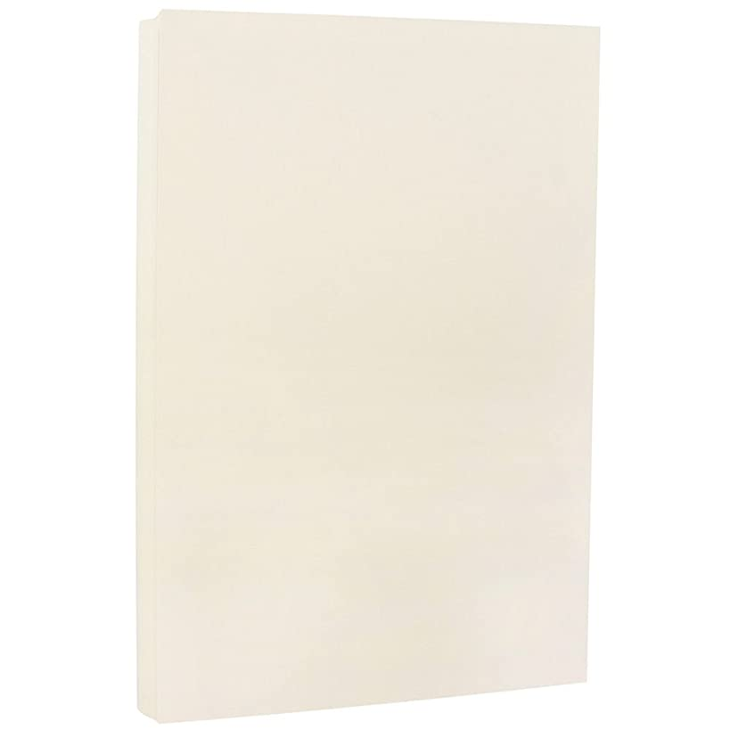 JAM PAPER Legal 80lb Cardstock - 8.5 x 14 Coverstock - Ivory White Wove Strathmore - 50 Sheets/Pack