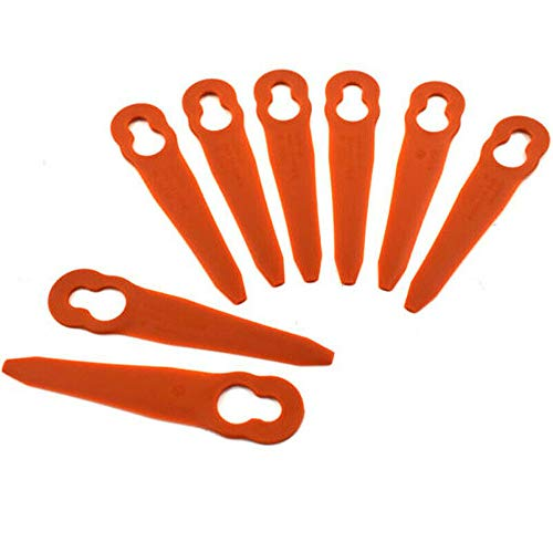 Chuancheng 48pcs Plastic Cutters Blades Replacement for Stihl PolyCut 2-2 4008 007 1000 Lawnmower Trimmer Grass Cutter Tools