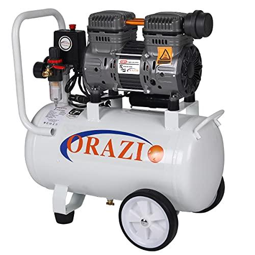ORAZIO 241184 Low Noise Silent Air Compressor - 24 Liters