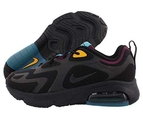 Nike Women's Air Max 200 Black/Bordeaux/University Gold/Anthracite AT6175-001 (Size: 5.5)