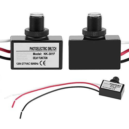 Hztyyier Control del Sensor de luz, Interruptor del Sensor del Sensor de Control Encendido/Apagado automático para Accesorios de iluminación