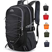Loowoko 40L Travel Hiking Camping Unisex Backpack with Wet Pocket (Black)