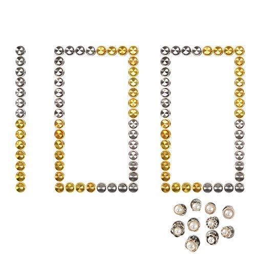 RETON 100 STK. Sicherungssperren Metall Pin Keepers für Ihre Lieblings-Sammlerstücke & Trading, kein Werkzeug erforderlich, mit 10 Zufälligen Brosche (50 Gold & 50 Nickel)