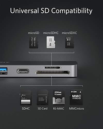 Anker PowerExpand Direct 7-in-2 USB-C Hub für MacBook, USB-C Adapter mit Thunderbolt 3 USB-C (100W PD), 4K HDMI Port, USB-C & USB-A 3.0 Datentransfer, SD & microSD Speicherkartensteckplatz