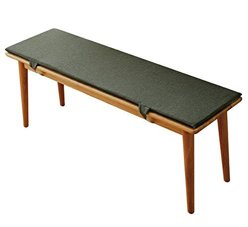 YINGLUO Cojín para banco de jardín al aire libre, cojín antideslizante duradero con lazos de fijación, cómodo y práctico soporte largo para silla de 2 o 3 plazas