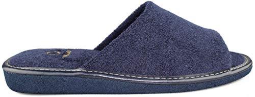 Zapatillas DE IR por CASA VULLADI Toalla Hombre de la Talla 43 en Color Azul