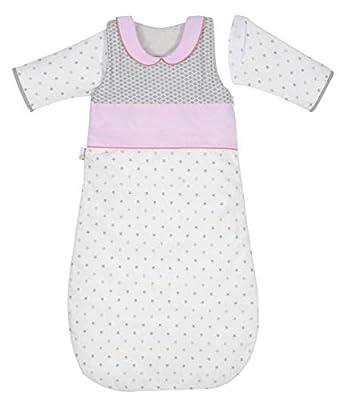 P 'tit Basile - Saco de dormir de invierno para bebé niño, 6-24 meses - 90 cm - con mangas largas extraibles removibles desmontables, algodón orgánico, TOG 2,5