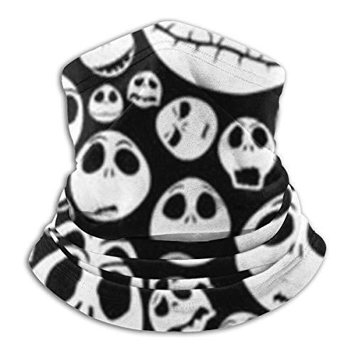 N / A Calavera De Halloween Bufanda Multifuncional Polainas De Cuello Adulto Cubierta De La Cara Antideslizante Calentador De Cuello para Mujer Hombre