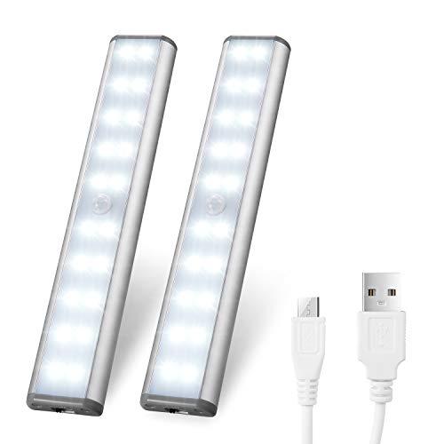 LED Under Cabinet Lighting,Closet Lights Motion Sensor Light Rechargeable Cabinet Lights Wireless LED Kitchen Cabinet Lights