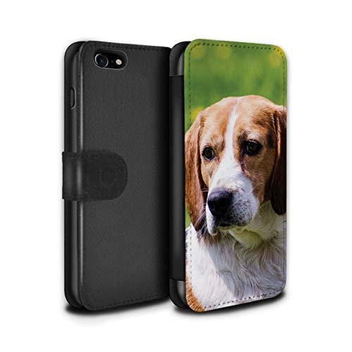 Stuff4 PU lederen hoesje/portemonnee/IP-PSW/Populaire collectie honden/hondenrassen Apple iPhone SE 2020 Beagle/Hond