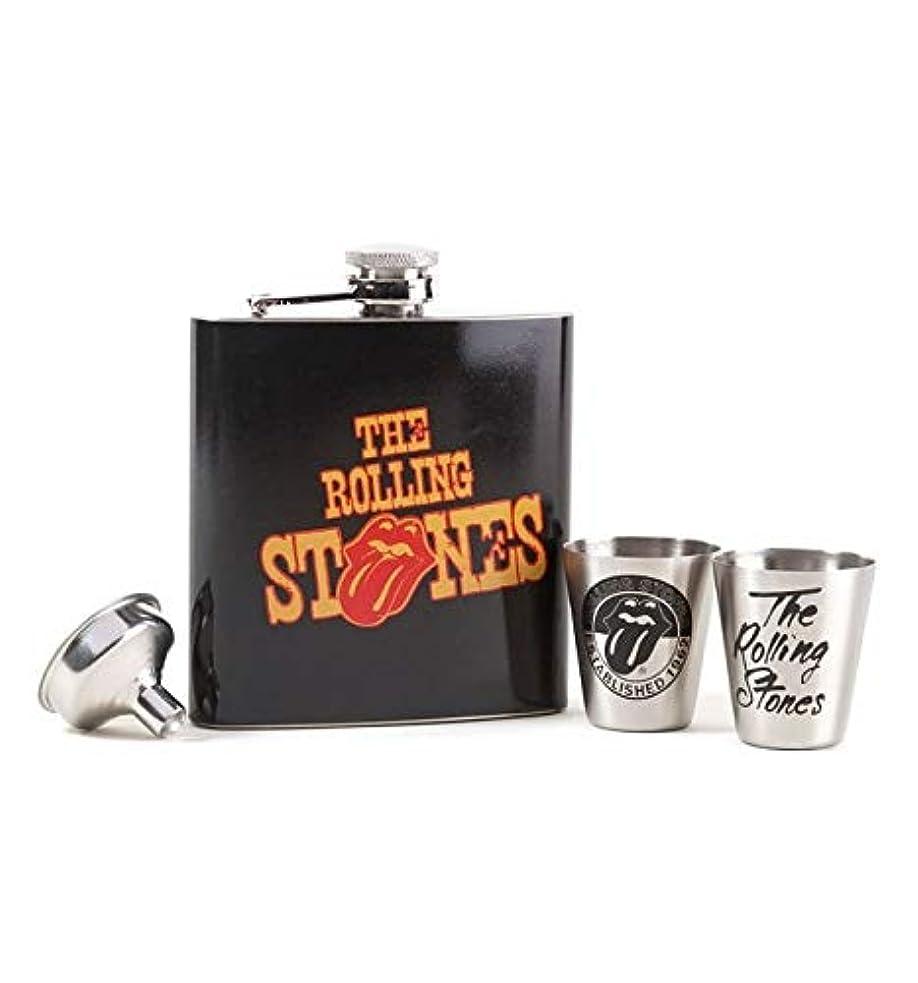 パーセント対角線細分化する■ローリングストーンズ■The Rolling Stones ■フラスク ギフトセット ■Hip Flask Gift Set ●ローリングストーンズ正規品 ●100% official Rolling Stones product