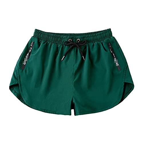 TY.OLK Pantalones cortos de natación para hombre Bolsillo con cremallera Troncos de natación Playa Deporte Tabla de surf de secado rápido Corto